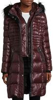 Karl Lagerfeld Faux Fur-Trimmed Down Puffer Jacket