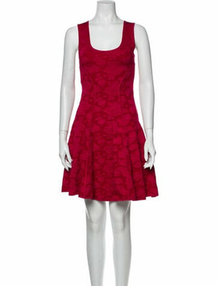 ZAC Zac Posen Lace Pattern Mini Dress Pink