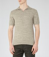 Reiss Rashford - Textured Polo Shirt in Brown, Mens