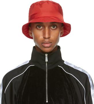Versace Red GV Signature Bucket Hat