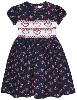 Rachel Riley Floral embroidered cotton dress