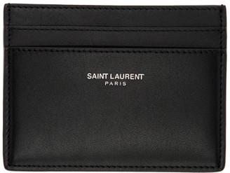 Saint Laurent Black Logo Card Holder