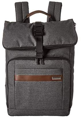 Briggs & Riley Kinzie Street - Medium Fold-Over Backpack (Grey) Backpack Bags