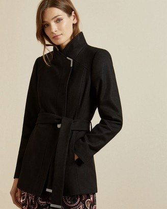 Ted Baker Short Belted Wool Wrap Coat