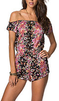 O'Neill Celinda Floral-Print Off-The-Shoulder Romper