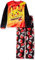 Pokemon Big Boys' Catch 'Em All Luxe Plush 2-Piece Pajama Set