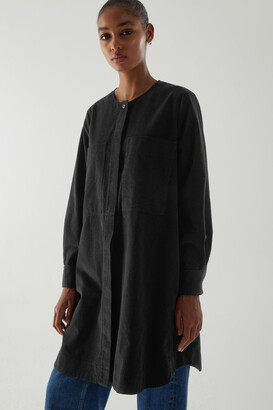 Cos A-Line Cotton Corduroy Shirt Dress