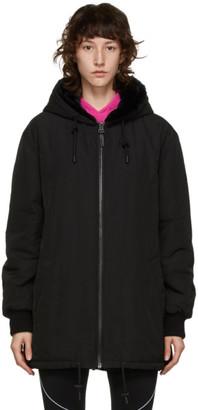 Yves Salomon Army Reversible Black Fur Coat