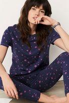 Next Womens Navy/Pink Star Print Short Sleeve Jersey Pyjamas
