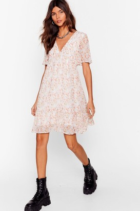 Nasty Gal Womens Seed Your Love Floral Mini Dress - White - L