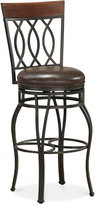 B.ella Faux Leather Counter Height Bar Stool, Quick Ship
