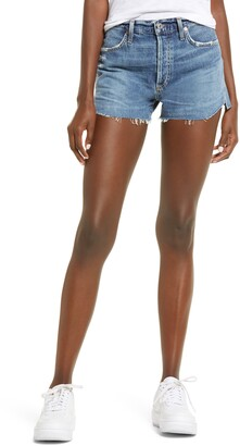 Citizens of Humanity Annabelle High Waist Cutoff Denim Shorts