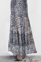 Blu Moon Almost Famous Skirt in Black Leopard