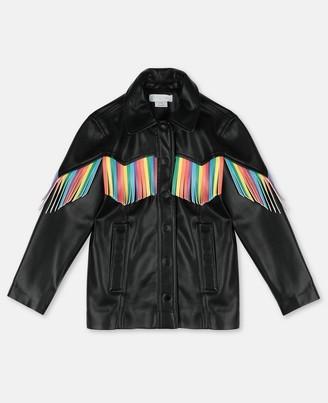 Stella Mccartney Kids Stella McCartney fringes alter nappa jacket
