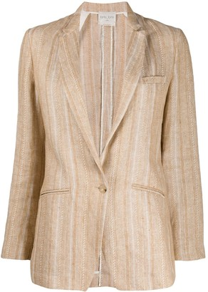 Forte Forte Striped Single-Breasted Blazer