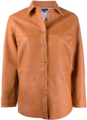 Jejia Leather Shirt Jacket