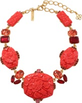 Oscar de la Renta Carved Floral Necklace