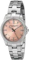 "Stuhrling Original Women's 408LL.02 ""Symphony"" Swiss Quartz Swarovski Crystal-Accented Pink Dial Watch"