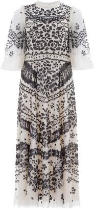 Needle & Thread AnaAs Embroidered Tulle Dress