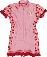 Playshoes Girl's UV Sun Protection All-in-One Strawberries Swimsuit,3 Years (Manufacturer Size:98/104 (3-4 Years))