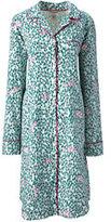 Lands' End Women's Flannel Nightshirt-Rich Pine Plaid