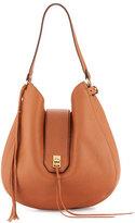 Rebecca Minkoff Darren Leather Hobo Bag, Almond