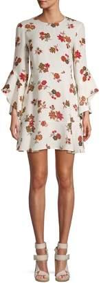 A.L.C. Floral-Print Silk A-Line Dress