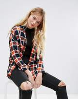 Monki Oversize Check Shirt