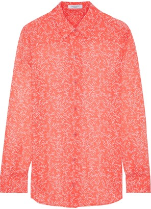 Equipment Essential Floral-print Silk-chiffon Shirt