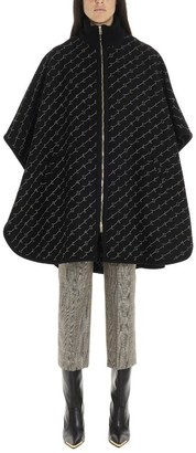 Stella McCartney All Over Logo Zipped Cape