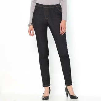 """Anne Weyburn Tapered Ankle Grazer Jeans with Elasticated Waist, Length 28"""""""