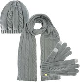 Luxury Divas 3 Piece Beanie Cap Scarf & Gloves Set