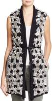 Nic+Zoe Blocked Out Checker Knit Belted Vest