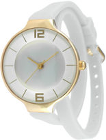 JCPenney TKO ORLOGI Womens White Silicone Strap Wrap Watch