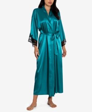 Linea Donatella Lace Trim Wrap Robe