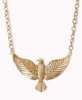 Forever 21 Etched Eagle Necklace