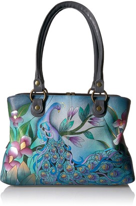 Anuschka Women's Anna Handpainted Leather Satchel Top Handle Handbag