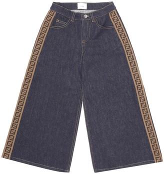 Fendi Kids FF wide-leg jeans