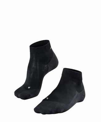 Falke Women RU4 Light Short Running Socks - Sports Performance Fabric White (Black-Mix 3010) Size: US 8-9 (EU 39-40 UK 5.5-6.5) 1 Pair