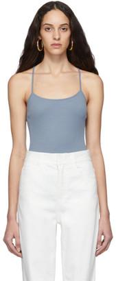 Tibi Blue Wool Jersey Lightweight Cami Bodysuit