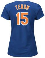 Majestic Women's Tim Tebow New York Mets Crew Player T-Shirt