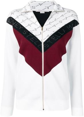 Stella McCartney monogram zipped track jacket