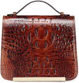 Red Croc-Embossed Inaya Leather Crossbody Bag