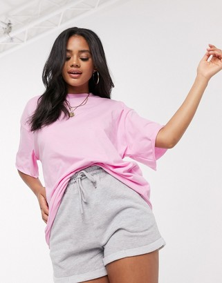 ASOS DESIGN tonal co-ord boxy oversized t-shirt in pink