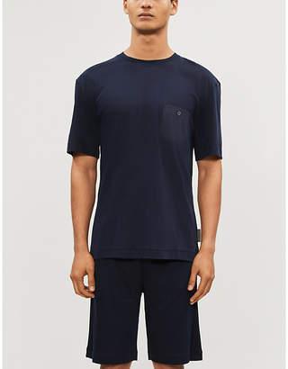 Zimmerli Short-sleeved cotton-blend T-shirt