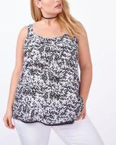 Penningtons Printed Reversible Dual-Layer Shell Top
