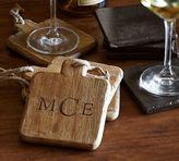 Pottery Barn Vintage Wood Drink Coaster, Set of 4