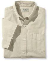 L.L. Bean Lakewashed Chambray Shirt, Single Pocket Short-Sleeve