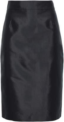 Prada Wool And Silk-blend Faille Pencil Skirt
