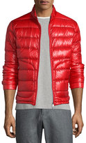 Moncler Acorus Quilted Nylon Puffer Jacket, Red